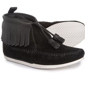 """rag & bone """"Ghita"""" Suede/Leather Moccasin Bootie"""